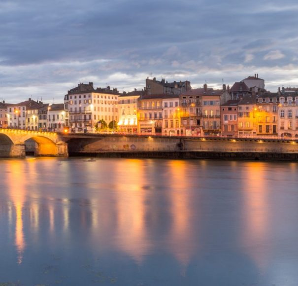 Rhone - Lovely-Riverside-View-of-the-City-Macon,-FranceLowRes