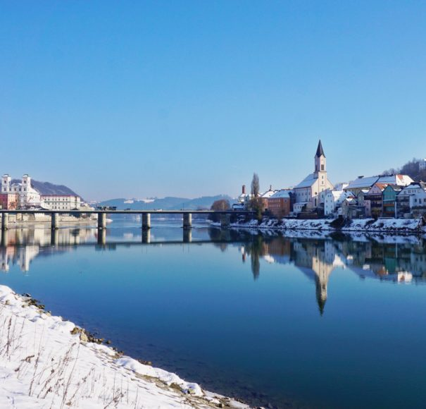 Danube River & Passau at Christmas