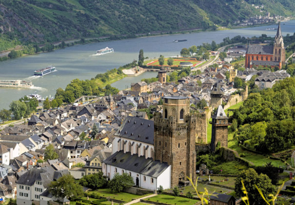 Titan Travel Oberwesel at river Rhine Germany