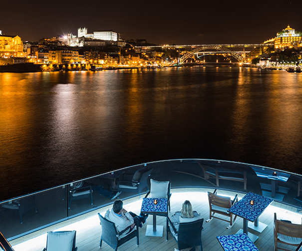 Viking Douro (Torgil) night view in Porto
