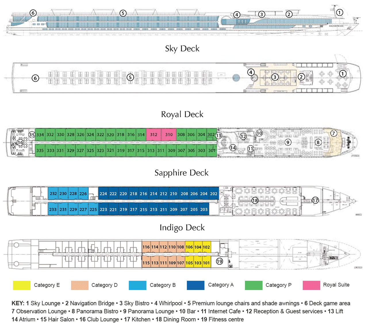 Avalon Expression - Deck Plan