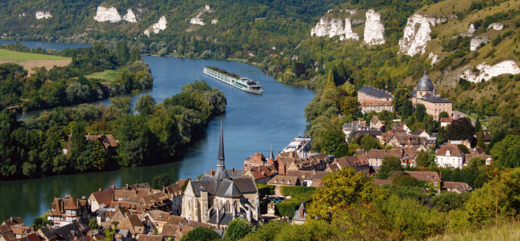 Scenic Gem river ship on the river Seine.